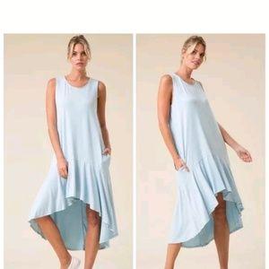 Love In Womens Light Blue Sleeveless Dress